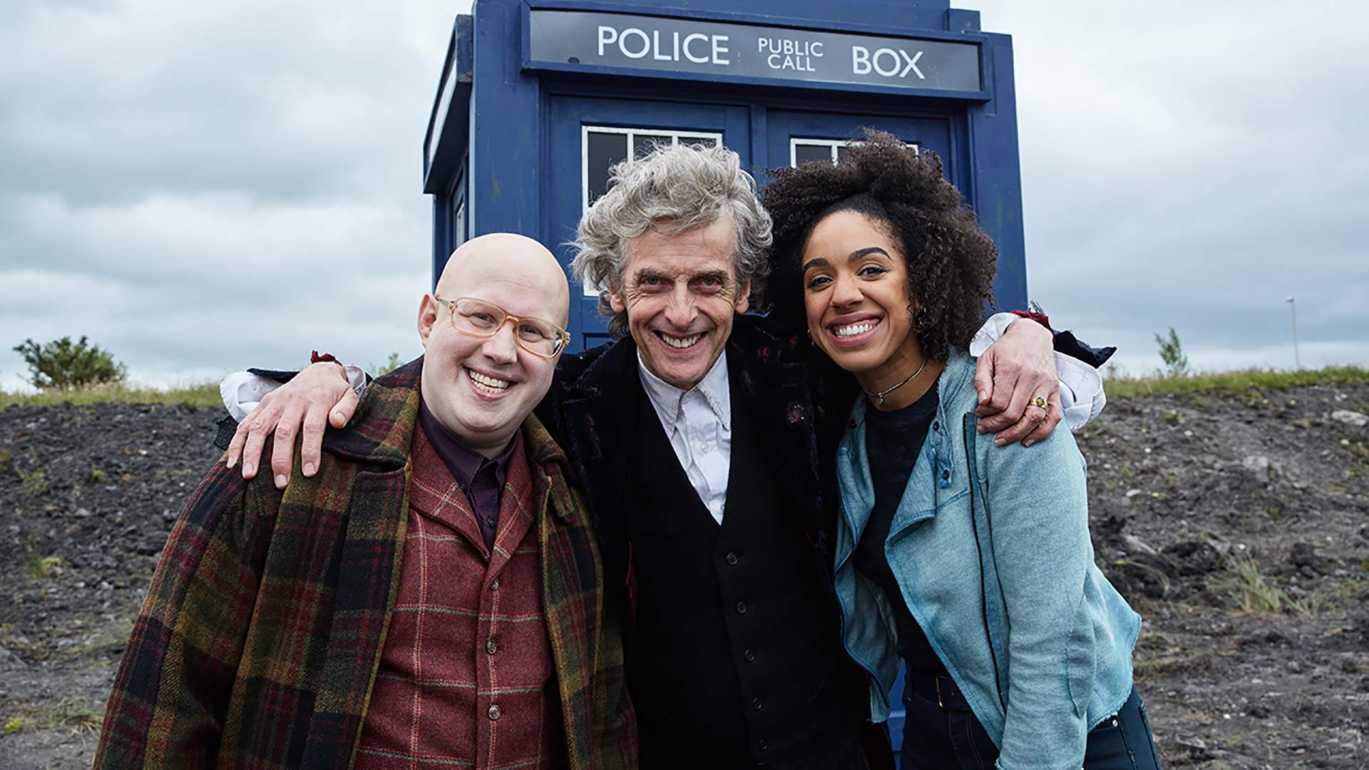 The cast of Dr. Who